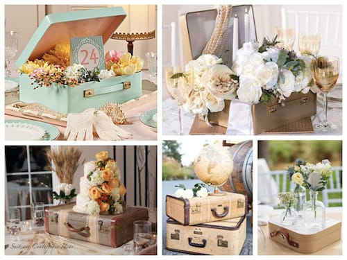Suitcase Centerpiece Ideas