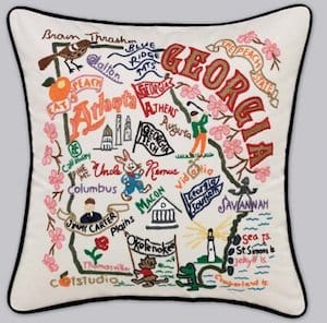 Decorative State Pillows Housewarming Gifts