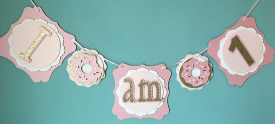 First Birthday Donut I AM One Banner
