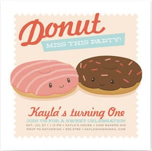 Donut Miss The Party Invitations
