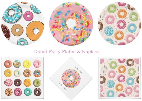 Donut Party Platesand Napkins