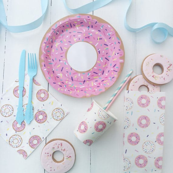 Donut Party Tableware, Donuts, Cupcakes, Pancakes and Pajamas Party Ideas & Supplies