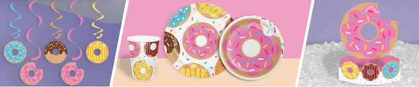 Birthday Donut Time Party Supplies