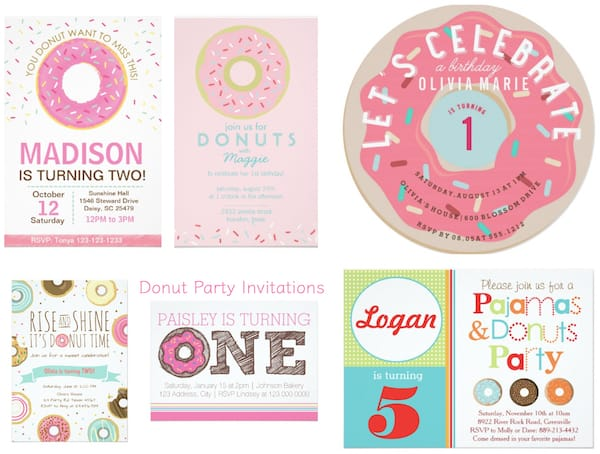 Donuts and Pajamas Party Invitations