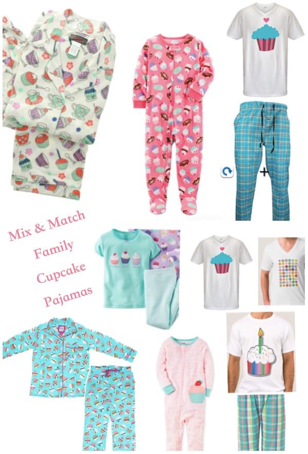 Mix and Match Family Cupcake Pajamas, Family Matching Pancake, Donut and Cupcake Pajamas