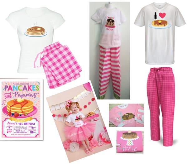 Mommy Daddy and Me Matching Pancake Pajamas