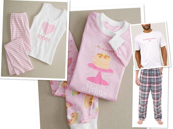 Mommy Daddy and Daughter Family Pancake and Pajamas Party Sleepwear f63d4faf4