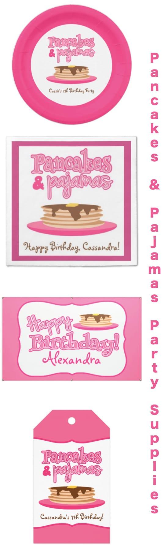 Pancake and Pajamas Party Supplies