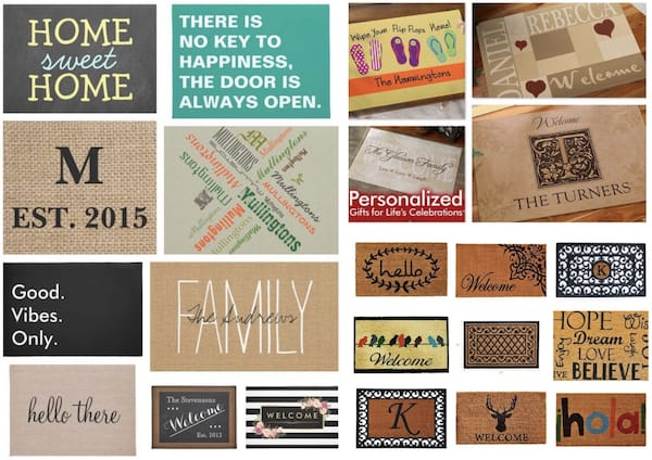 Personalized Welcome Dooormats Housewarming Gifts