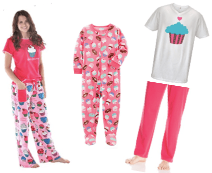 Mommy, Daddy & Me Pink Cupcake Pajamas, Family Matching Pancake, Donut and Cupcake Pajamas