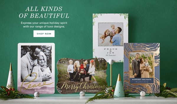 Beautiful Holiday Card Trends 2017
