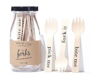 Bite Me, Pick Me, Fork It Tiny Appetizer Forks