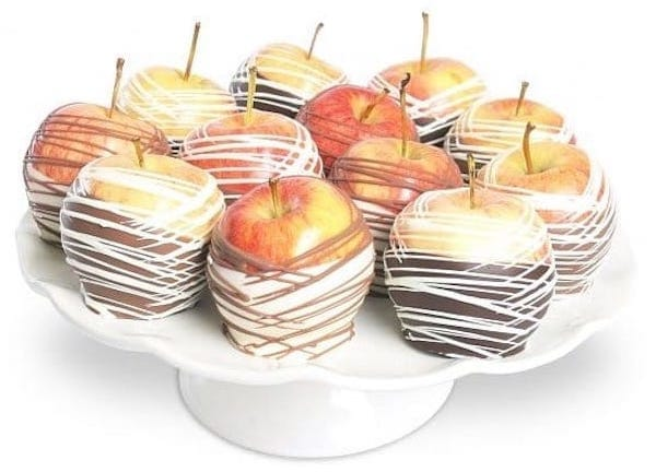 Chocolate Dipped Apples Gift, Apples and Honey Gifts for the Jewish New Year