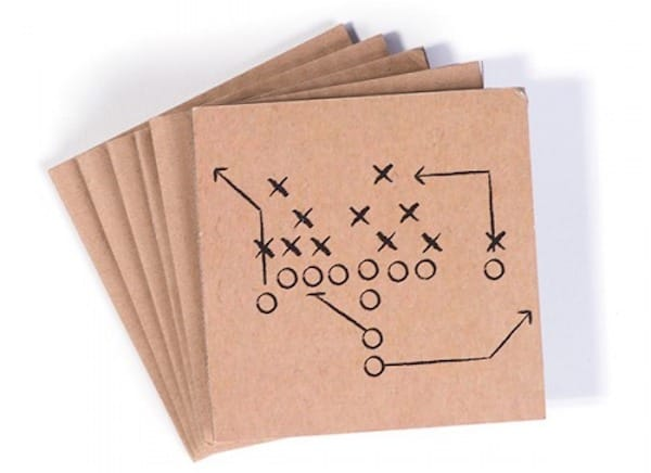 Football Play Coasters, Tailgate & Celebrate Football Themed Couples Wedding Shower Decor and Supplies