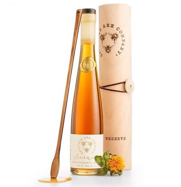 Gold Reserve Honey Flute, Apples and Honey Gifts for the Jewish New Year