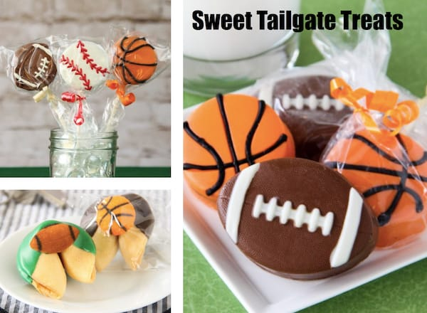 Sweet Tailgate Treats, Football Themed Couples Wedding Shower Food Ideas