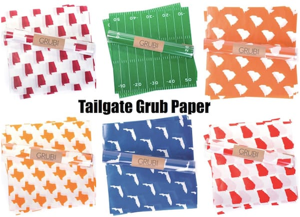 Tailgate Grub Paper,Tailgate & Celebrate Football Themed Couples Wedding Shower Supplies