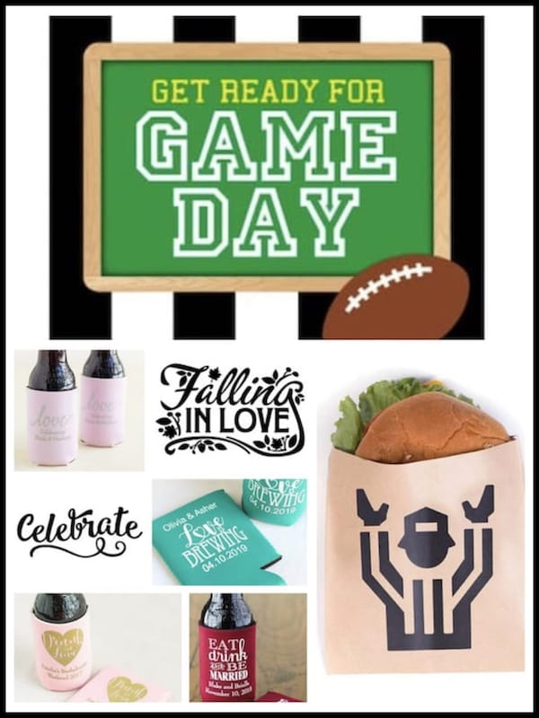 Tailgate & Celebrate Football Themed Couples Wedding Shower
