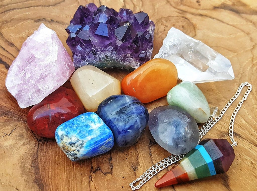 11 Pieces Crystals For Healing Chakra Kit