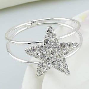 Bling star napkin rings
