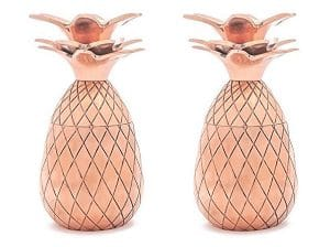 Copper Pineapple Tumblers and Shot Glasses