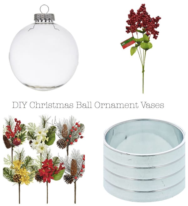 DIY Christmas Ball Ornament Vases