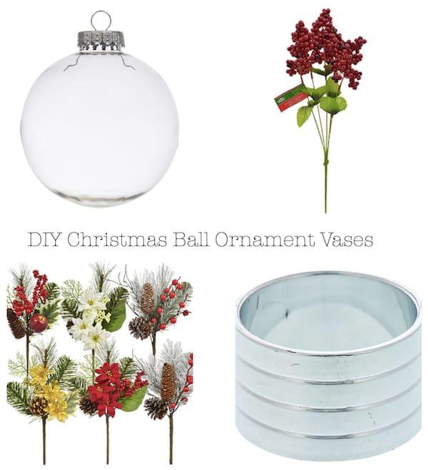 DIY Christmas Ball Ornament Vases