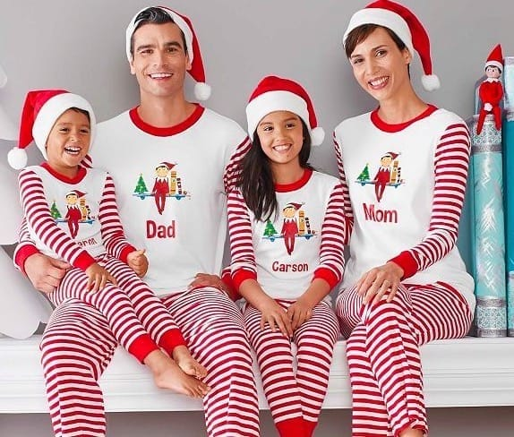Family Matching Holiday Personalized The Elf On The Shelf Pajamas