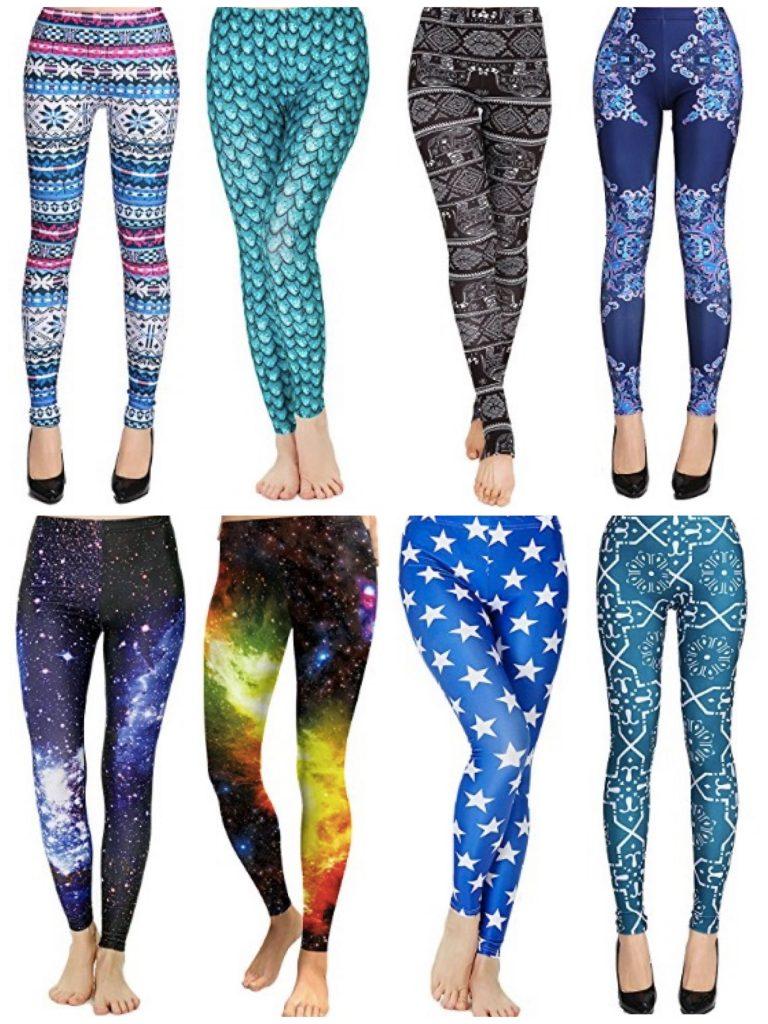 Funky Yoga Print Leggings