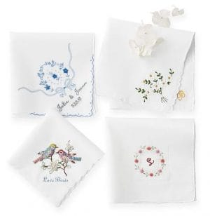 Hand Embroidered Heirloom Handkerchief