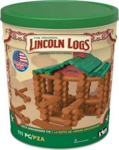 LINCOLN LOGS 100th Anniversary Tin