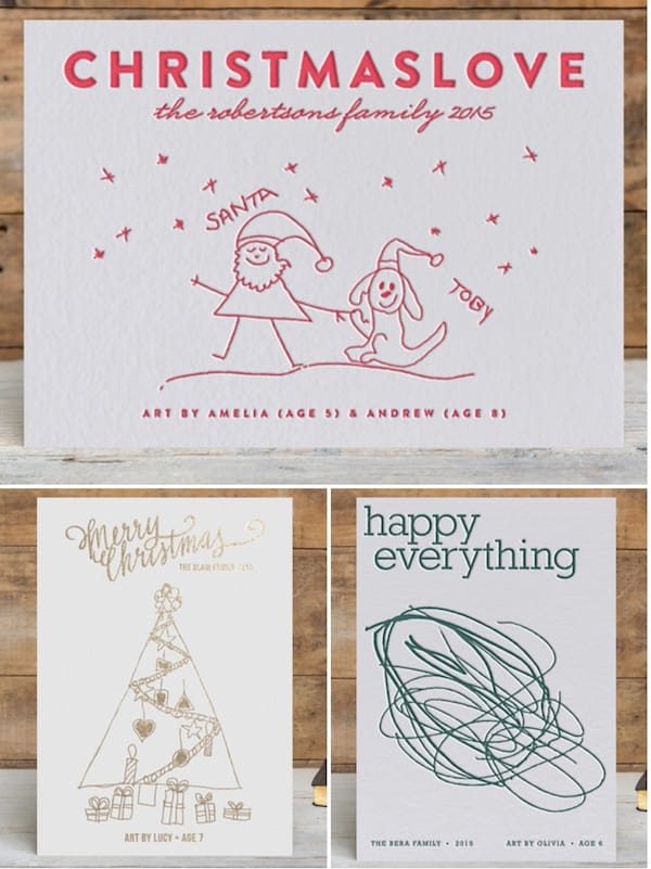 Minted Custom Designed Holiday Cards