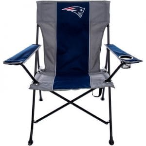 New England Patriots Tailgate Quad Chair with Click and Carry Strap