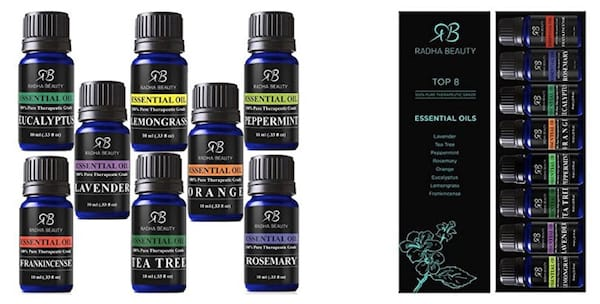 Radha Aromatherapy Essential Oil Sampler Kit