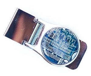 Reclaimed Circuit Board Money Clip