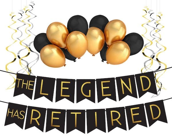 The Legend Has Retired Party Supplies