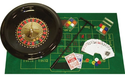 Trademark Poker 16 Inch Deluxe Roulette Set with Accessories