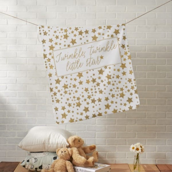 Twinkle Twinkle Little Star Baby Shower Swaddle Blanket