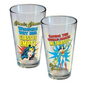Wonder Woman Pint Glass Set