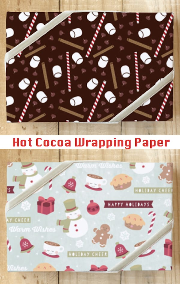 Hot Cocoa Themed Wrapping Paper
