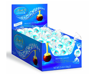 Lindt LINDOR Holiday Snowman Milk & White Chocolate Truffles
