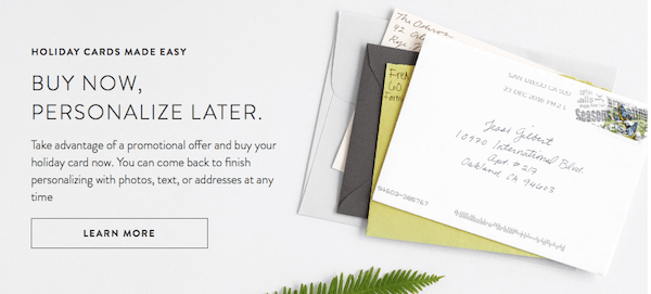 Minted Buy Now Personalize Later