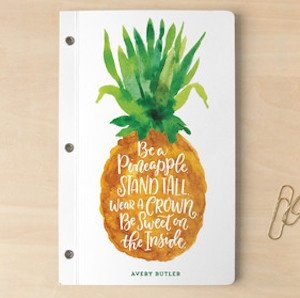 Pineapple love notebook gift