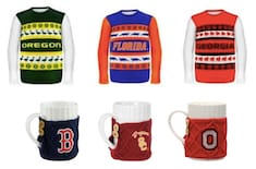 fanatics ugly sweaters cable knit sweater coffee mug warmers