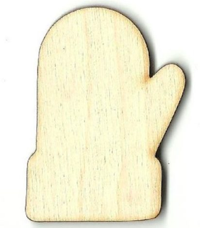Wooden mitten craft