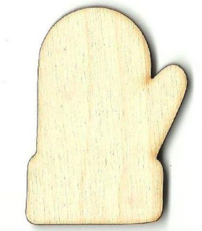 Wooden mitten craft