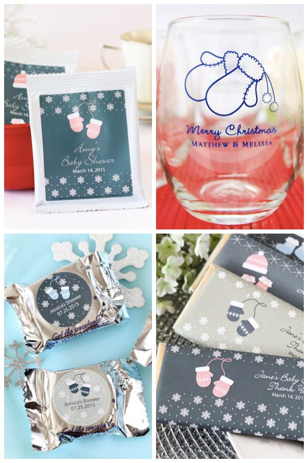 mitten decorations and party supplies