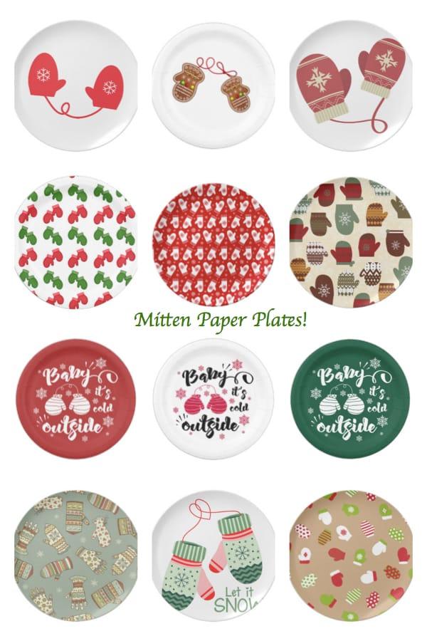 mitten paper plates