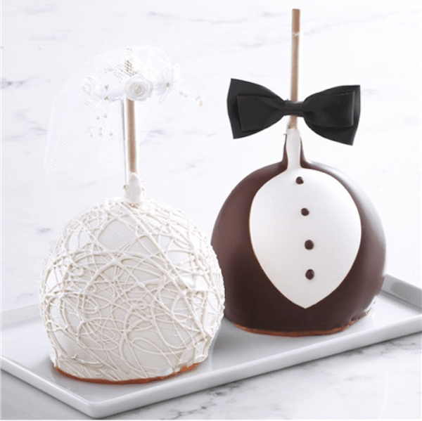 Bride and Groom Jumbo Caramel Apples