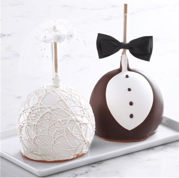 Bride and Groom Jumbo Caramel Apples